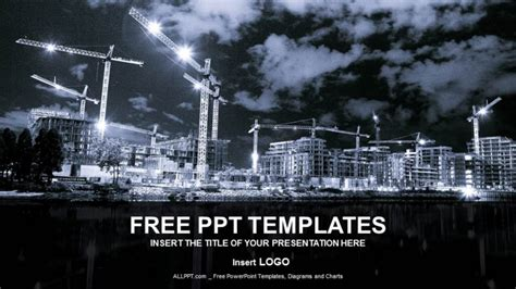 industrial powerpoint templates building in process industry ppt templates