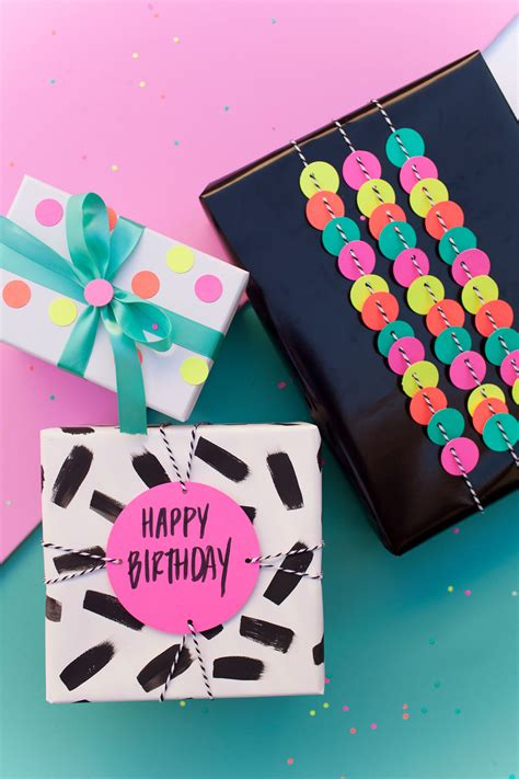 Funny Ways To Wrap Gift Cards - fun gift wrap ideas using a hole punch tell love and party