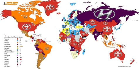Most Searched On Most Searched Car Brands Around The World In 2016 Image 609606