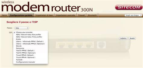aprire porte infostrada router 300n sitecom aprire porte
