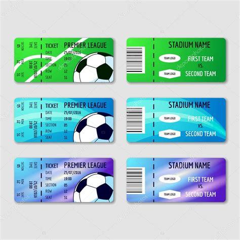 comprar entradas de futbol tres entradas para el torneo de f 250 tbol vector de stock