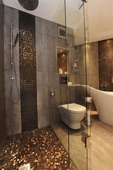 copper tiles bathroom 25 best ideas about penny tile floors on pinterest