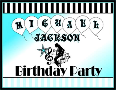 printable michael jackson birthday cards printable michael jackson party supplies m j birthday