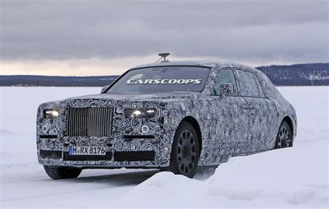 roll royce rouce 2018 rolls royce phantom mule spied less weight same