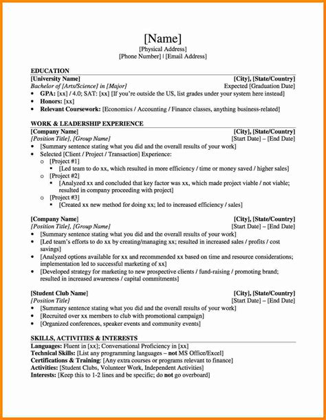 graduate student resume example sample for school ooder co