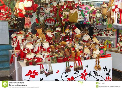 santa claus christmas decorations hongkong china stock
