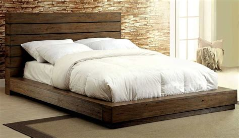 Low Profile Bed With Plank Panel Headboard Fa23 Urban Low Level Bed Frame