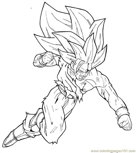 goku ss3 coloring pages goku ss3 by moncho m89 coloring page free goku coloring