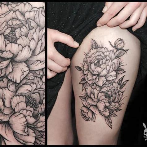 pinterest tattoo peony peony tattoo black and grey i absolutely looove this