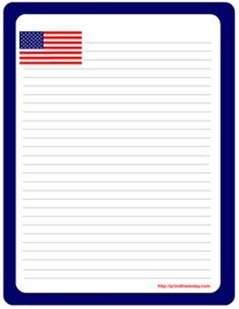flag writing paper american flag border paper for writing abc s and 123 s