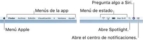 iconos barra superior mac 191 qu 233 contiene la barra de men 250 s de la mac soporte