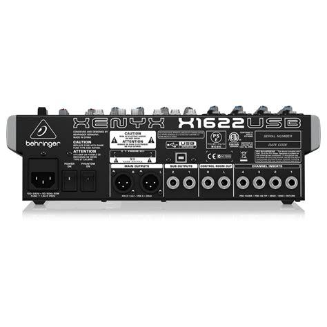 Mixer Xenyx X1622usb behringer xenyx x1622usb mixer at gear4music