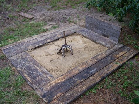 backyard horseshoes plans dimensions official sizing and step by step advice