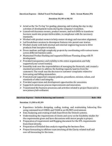 scrum master resume sle pratheep rajasekaran resume scrummaster