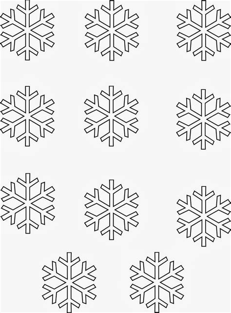 Printable Snowflake Template by Printable Snowflakes Templates Invitation Template