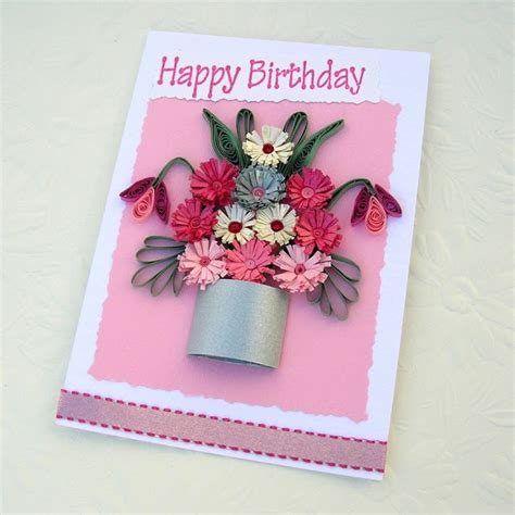 Birthday Origami Ideas - handmade quilled birthday cards ideas origami