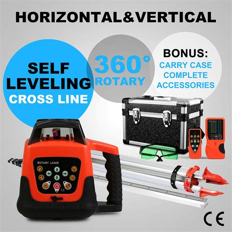 green  leveling rotary laser level tripod staff
