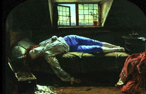 painting of dead man in bathtub the death of chatterton by henry wallis