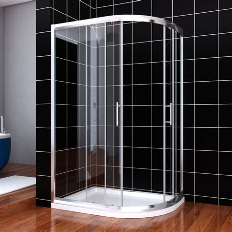 Shower Trays And Doors Shower Enclosure Quadrant Sliding Door Cubicle Tray 6mm Easy Clean Glass Ebay