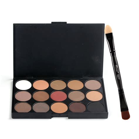 Inez Palette Eye Shadow 15 Colors Promo 15 colors makeup eyeshadow headed eye shadow brush and eye shadow stick kit matte pigment