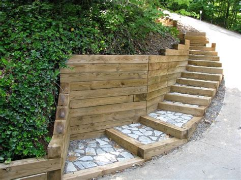 Landscape Timbers For Steps 26 Best Images About Timber Stairs On