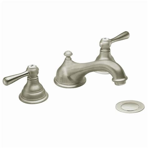 shop moen kingsley brushed nickel 2 handle widespread