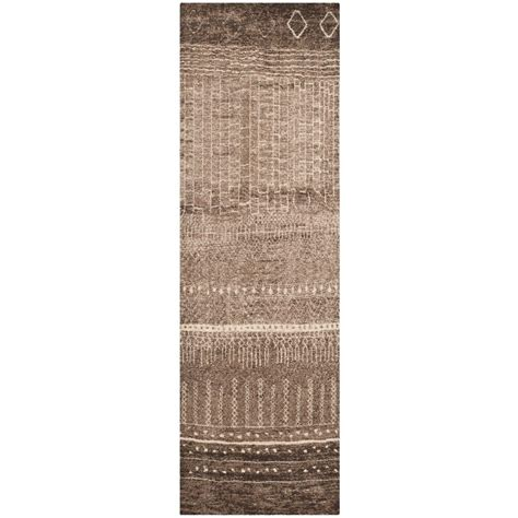 8 foot runner rug safavieh tunisia brown 2 ft 6 in x 8 ft rug runner tun1711 khv 28 the home depot