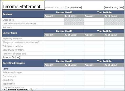 Income Statement Excel Standardbaku Club Restaurant Balance Sheet Template Excel