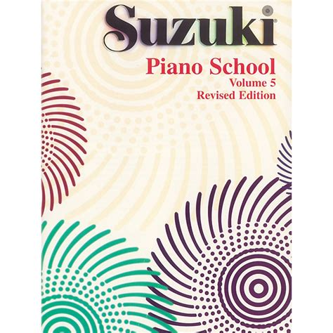 Suzuki Method Book Suzuki Suzuki Piano School Piano Book Volume 5 Musician