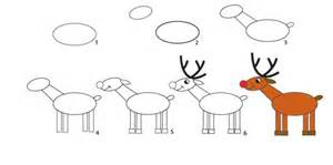 How to draw santa reindeer and angel