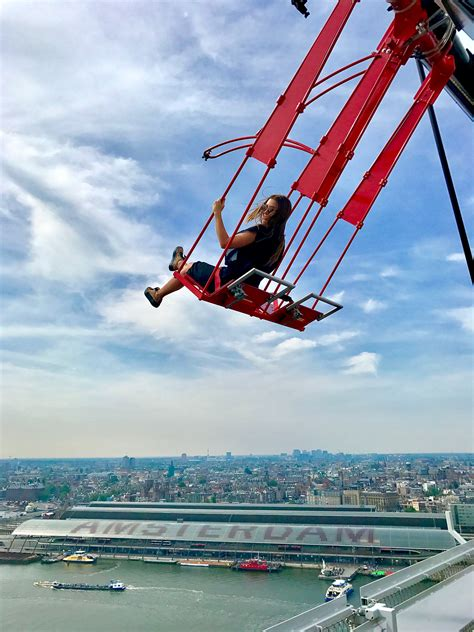 swing amsterdam try the europe s highest swing at a dam lookout tower in