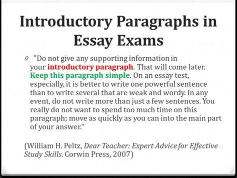 Introductory Paragraph Essay by Opening Paragraphs Start Out With A Wow Ppt