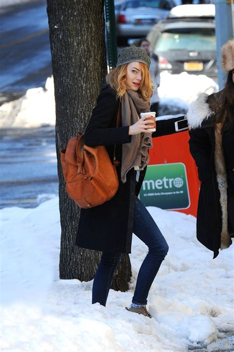 emma stone latest news emma stone out and about in new york hawtcelebs