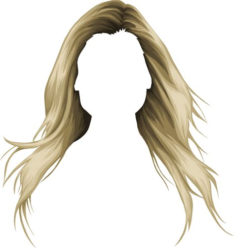 long hair clipart women s hair pencil and in color long
