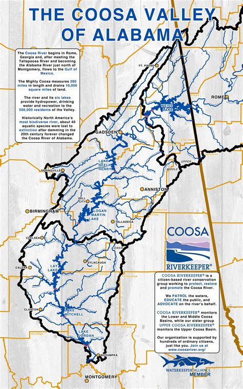 coosa river map the coosa river coosa riverkeeper