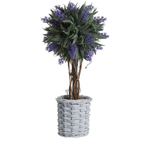 buy lavender ball tree  willow basket artificial