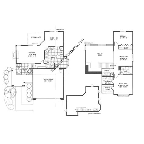 Linden Floor Plan by Linden Model In The Subdivision In