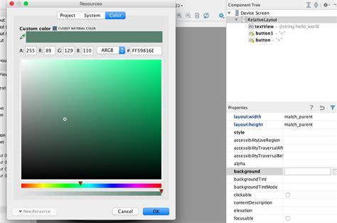 android studio layout color cambiar color de fondo de layout en android studio