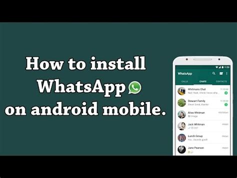 how to install whatsapp on android how to and install whatsapp on android phone doovi