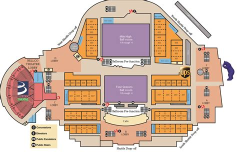 denver convention center floor plan in house amenities denver convention center