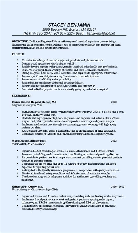 medical sales representative resume sample