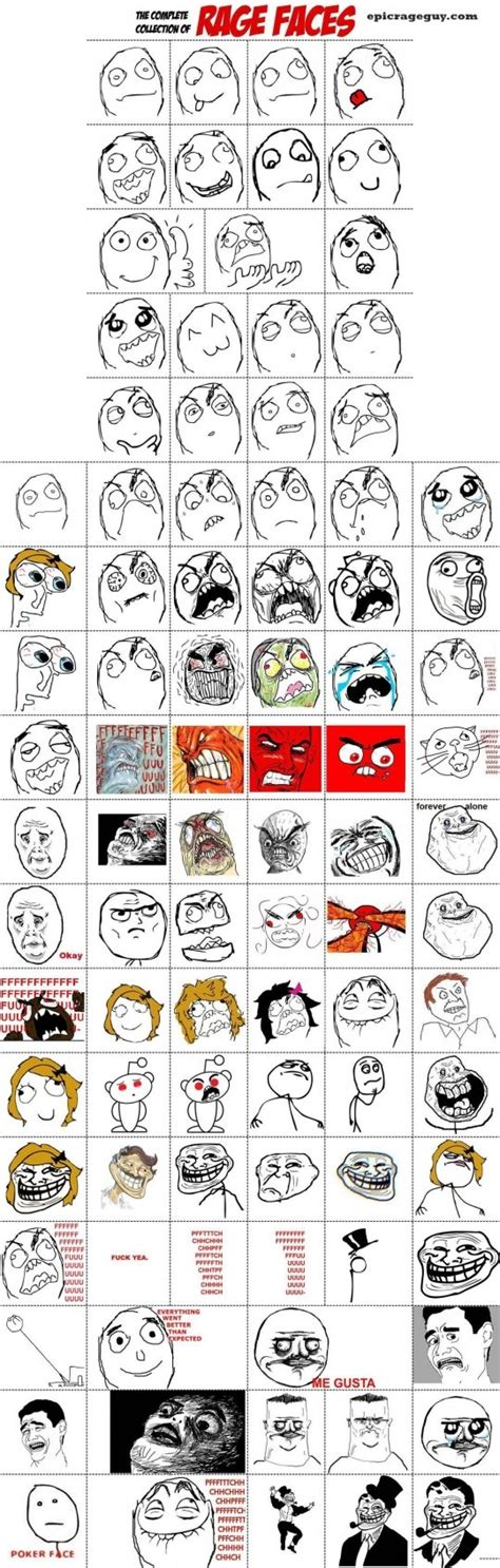 Meme Face Collection - the collection of meme comic faces