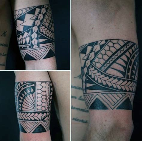 polynesian wristband tattoo designs 50 tribal armband designs for masculine ink ideas
