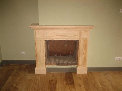 chimenea madera frente de chimenea de madera diy buscar con