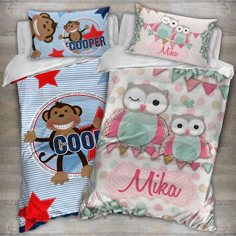 personalised quilt covers spatz mini peeps 174
