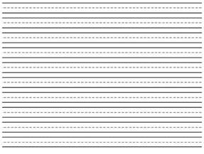 First Writing Paper Lined Paper For First Grade Lined Writing Paper For