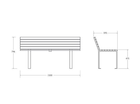 dimensioni panchina panchina tipo madrid in acciaio