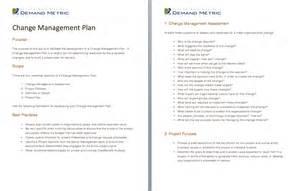 project change management plan template change management a project and templates on