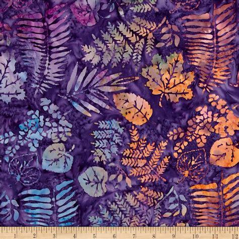 Rebell 2 In 1 Batik island batik desert fern purple rust discount designer fabric fabric