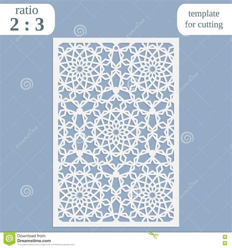 Paper Openwork Greeting Card Template For Cutting Lace Invitation Lasercut Metal Panel Wood Laser Cut L Template
